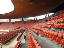 Sedi allo stadio Letzigrund Fotografia Stock Libera da Diritti