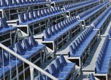 Sedi blu di Stadiun Immagini Stock
