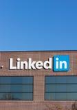 Sedi corporative di LinkedIn Fotografia Stock Libera da Diritti