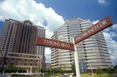 Sedi corporative di Tyson, la contea di Fairfax, VA immagini stock