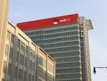 Sedi del mondo di Red Hat Fotografie Stock