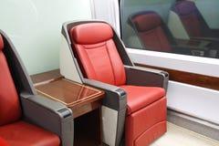 Sedi del treno ad alta velocità Immagini Stock Libere da Diritti