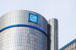 Sedi della costruzione del GM a Detroit del centro Immagini Stock Libere da Diritti