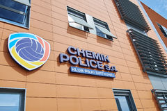 Sedi della polizia di Chemik, club di pallavolo del ` s delle donne Immagine Stock Libera da Diritti
