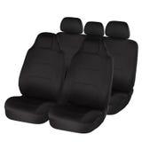 Sedi di automobile ergonomiche nere Fotografie Stock Libere da Diritti