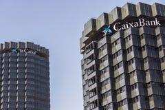 Sedi di CaixaBank, Barcellona fotografia stock