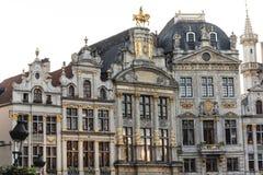 Sedi di corporazione su Grand Place, Bruxelles, Belgio Fotografia Stock Libera da Diritti