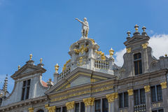 Sedi di corporazione su Grand Place di Bruxelles nel Belgio Fotografie Stock