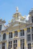 Sedi di corporazione su Grand Place di Bruxelles nel Belgio Fotografia Stock Libera da Diritti