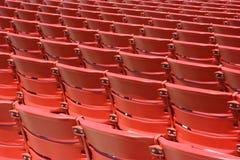 Sedi di plastica rosse, posteriori Fotografie Stock Libere da Diritti