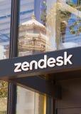 Sedi e logo di Zendesk Coporate Immagini Stock