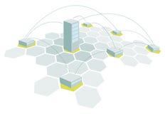 Sedi e rami/rete ufficio della costruzione illustrazione di stock