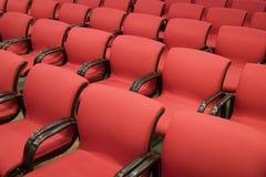 Sedi rosse Fotografie Stock