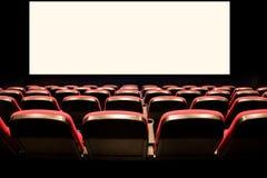 Sedi rosse vuote in un cinematografo Immagini Stock Libere da Diritti