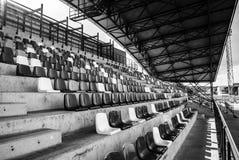 Sedi verdi dello stadio Fotografie Stock