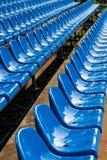 Sedi verdi dello stadio Fotografie Stock Libere da Diritti