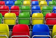 Sedi vuote dello stadio Fotografia Stock Libera da Diritti