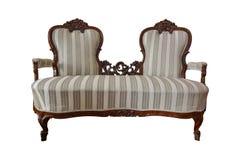 Sedia antica del two-seater Fotografia Stock Libera da Diritti