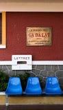 Sedia aspettante nella stazione ferroviaria in Lat del Da Fotografia Stock