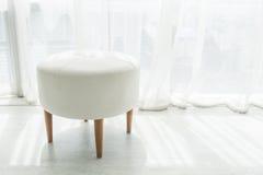 Sedia bianca delle feci Fotografia Stock