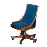Sedia blu girante moderna dell'ufficio Fotografia Stock