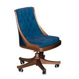 Sedia blu girante moderna dell'ufficio Fotografia Stock Libera da Diritti
