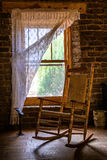 Sedia dalla finestra Fotografie Stock Libere da Diritti