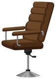 Sedia del bracciolo con cuoio marrone Fotografia Stock