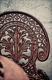 Sedia del metallo Fotografia Stock Libera da Diritti