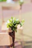 Sedia della decorazione di nozze Immagini Stock Libere da Diritti