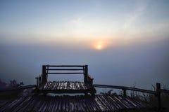 Sedia della montagna fotografia stock