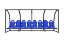 Sedia della riserva e vettura Bench Isolated del personale Illustrazione Vettoriale