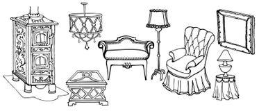 Sedia della stufa della mobilia Immagini Stock