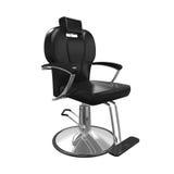 Sedia di barbiere isolata Fotografie Stock