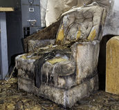 Sedia di decomposizione Immagini Stock