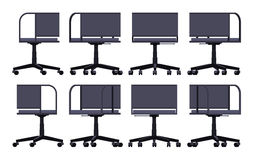 Sedia di filatura dell'ufficio Fotografia Stock Libera da Diritti