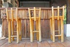 Sedia di legno al contatore di Antivari Immagini Stock