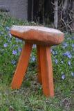 Sedia di legno arancio Fotografia Stock Libera da Diritti