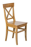 Sedia di legno con isolato Fotografia Stock Libera da Diritti