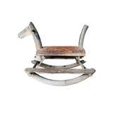 Sedia di legno del cavallo a dondolo Fotografia Stock Libera da Diritti