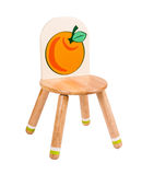 Sedia di legno del kiddie Fotografia Stock