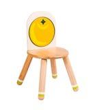Sedia di legno del kiddie Fotografia Stock Libera da Diritti
