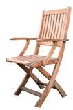 Sedia di legno isolata Fotografie Stock Libere da Diritti
