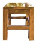 Sedia di legno isolata su un fondo bianco Immagini Stock