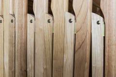 Sedia di legno piegata fotografia stock