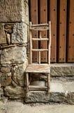Sedia di legno rustica Fotografia Stock Libera da Diritti