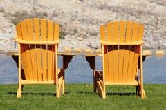 Sedia di Muskoka o di Adirondack Fotografie Stock Libere da Diritti