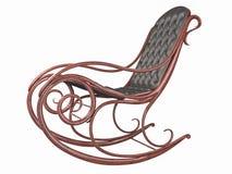 Sedia di oscillazione con la parte posteriore ed il sedile del cuoio Immagine Stock