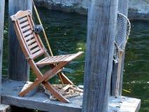 Sedia di pesca Immagine Stock