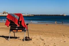 Sedia di spiaggia Immagini Stock